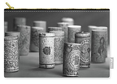 Carry-all Pouch featuring the photograph Wine Cork Panorama In Black And White by Tom Mc Nemar
