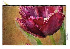 Wine Dark Tulips From My Garden Carry-all Pouch