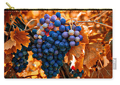 Wine Grapes Of Many Colors Carry-all Pouch by Lynn Hopwood