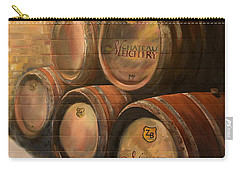 Wine In The Barrels - Chateau Meichtry Carry-all Pouch by Jan Dappen