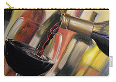 Carry-all Pouch featuring the painting Wine Pour II by Donna Tuten