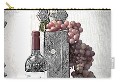Carry-all Pouch featuring the photograph Wine Tasting Evening by Sherry Hallemeier