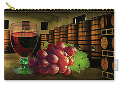 Carry-all Pouch featuring the photograph Wine Tasting by Hanny Heim