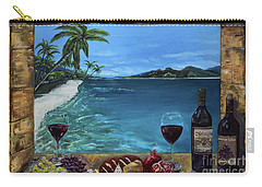 Wine Thirty - Oceanside Carry-all Pouch by Jan Dappen