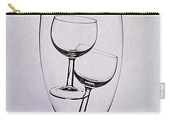 Carry-all Pouch featuring the photograph Wineglass Trio by Tom Mc Nemar