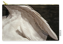 Carry-all Pouch featuring the photograph Wing Of An Egret by Jennie Marie Schell