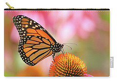 Carry-all Pouch featuring the photograph Winged Beauty by Doris Potter