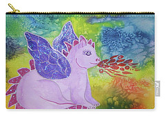 Carry-all Pouch featuring the painting Winged Dragon by Ellen Levinson