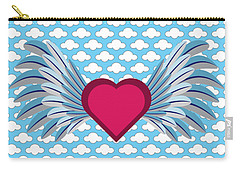 Winged Heart In A Cloudy Blue Sky Carry-all Pouch
