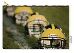 Winged Helmets On Yard Line Carry-all Pouch