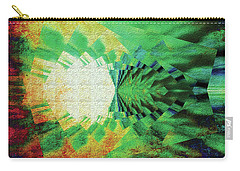 Carry-all Pouch featuring the digital art Winged Migration by Paula Ayers