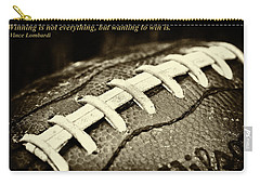Winning Is Not Everything - Lombardi Carry-all Pouch by David Patterson