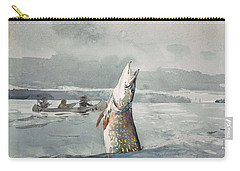 Carry-all Pouch featuring the painting Winslow Homer   Pike  Lake St  John 189 7 by Artistic Panda