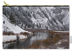 Carry-all Pouch featuring the photograph Winter Along The Salt by DeeLon Merritt