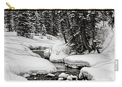 Winter Alpine Creek Carry-all Pouch