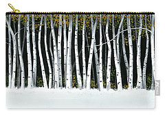 Winter Aspens II Carry-all Pouch by Michael Swanson