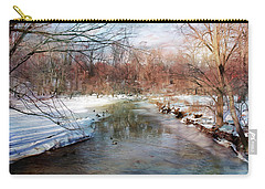 Winter At Cooper River Carry-all Pouch by John Rivera