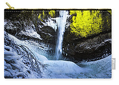 Winter At Latourell Falls Carry-all Pouch