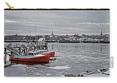 Winter At Newburyport Harbor Carry-all Pouch