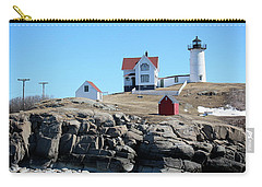 Winter At Nubble Point Carry-all Pouch