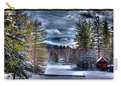 Carry-all Pouch featuring the photograph Winter At The Boathouse by David Patterson
