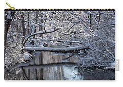 Winter At The Brook Carry-all Pouch