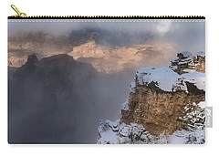 Carry-all Pouch featuring the photograph Winter At The Grand  Canyon by Sandra Bronstein