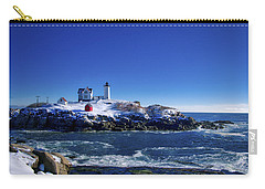 Winter At The Nubble Lighthouse - York - Maine II Carry-all Pouch