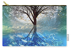 Carry-all Pouch featuring the digital art Winter At The Reef by Debra and Dave Vanderlaan