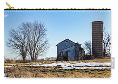 Carry-all Pouch featuring the photograph Winter Barn by Kathleen Scanlan