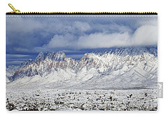 Carry-all Pouch featuring the photograph Winter Beauties Organ Mountains by Kurt Van Wagner