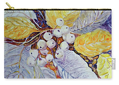 Carry-all Pouch featuring the painting Winter Berries by Joanne Smoley