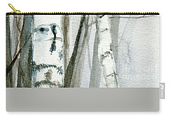 Winter Birch Carry-all Pouch by Laurie Rohner