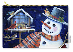 Winter Birds Delight Carry-all Pouch
