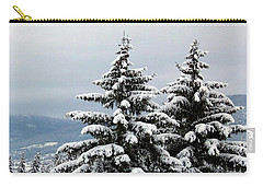 Carry-all Pouch featuring the photograph Winter Bliss by Will Borden