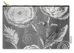 Carry-all Pouch featuring the digital art Winter Bloom II by Robin Maria Pedrero