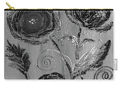 Carry-all Pouch featuring the digital art Winter Blooms IIi by Robin Maria Pedrero