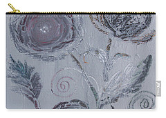 Carry-all Pouch featuring the painting Winter Blooms by Robin Maria Pedrero