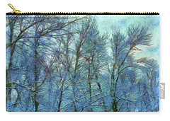 Winter Blue Forest Carry-all Pouch