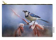 Winter Bluejay Carry-all Pouch