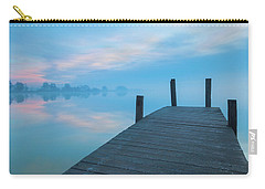 Carry-all Pouch featuring the photograph Winter Blues by Davor Zerjav