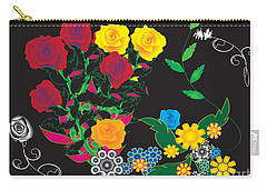 Carry-all Pouch featuring the digital art Winter Bouquet by Kim Prowse