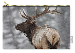 Winter Bull Elk Carry-all Pouch