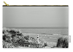 Winter Bw Beach Scene Carry-all Pouch