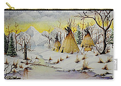 Winter Camp Carry-all Pouch by Jimmy Smith
