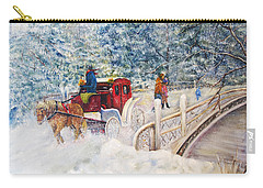 Winter Carriage In Central Park Carry-all Pouch