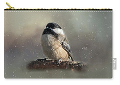 Winter Chicadee Carry-all Pouch