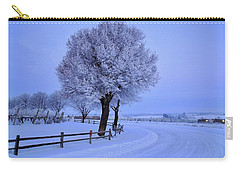 Winter Chill Version 2 Carry-all Pouch by Lynn Hopwood