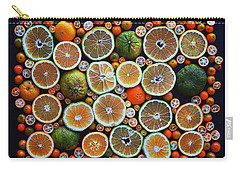 Winter Citrus Mosaic Carry-all Pouch