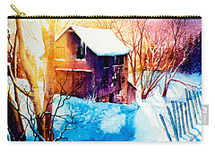 Carry-all Pouch featuring the painting Winter Color by Hanne Lore Koehler